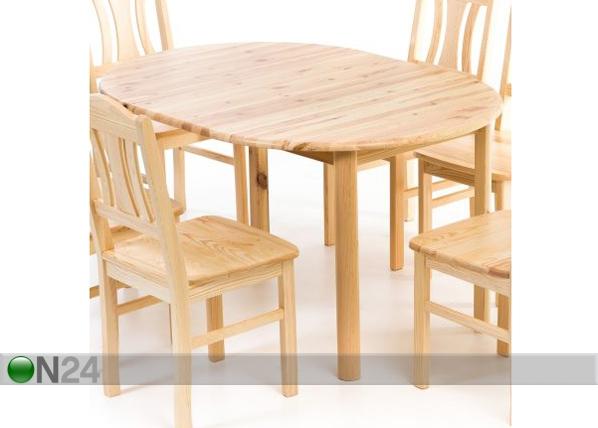 Jatkettava ruokapöytä, mänty 100x100-140 cm EC-95431