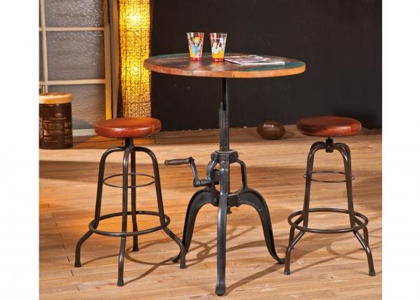 Ruokapöytä säädettävällä korkeudella FUNDOS Ø75 cm AY-95834