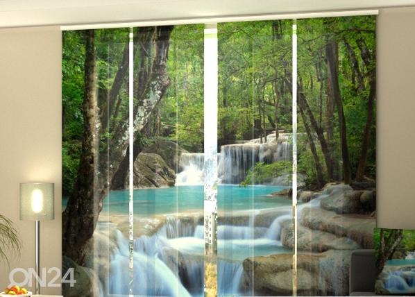 Puolipimentävä paneeliverho THAI WATERFALL IN SPRING 240x240 cm ED-97637