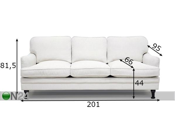Sohva BALTIMORE untuvatyynyillä, 3-ist TP-97673