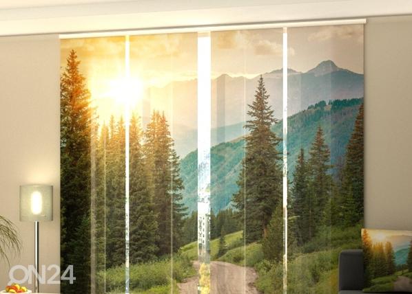 Läpinäkyvä paneeliverho paneeliverho SUN AND MOUNTAINS 240x240 cm ED-97720