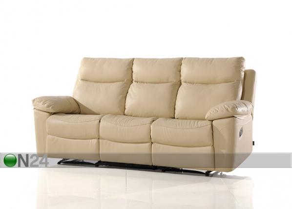 Nahkainen sohva, 3-ist jalkatukimekanismilla URUGUAY AQ-97911