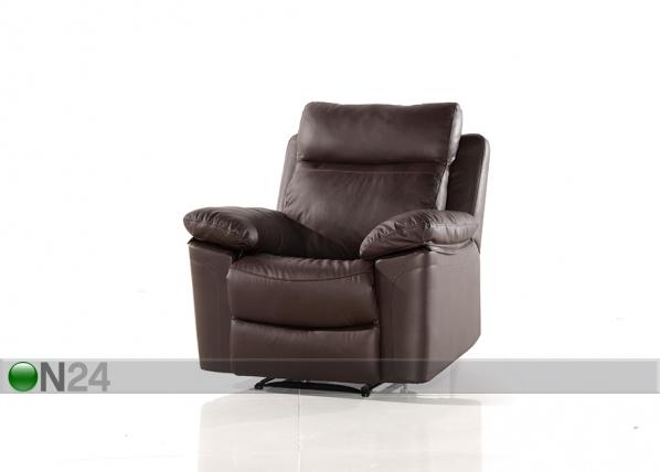 Nahkainen nojatuoli jalkatukimekanismilla URUGUAY AQ-97917