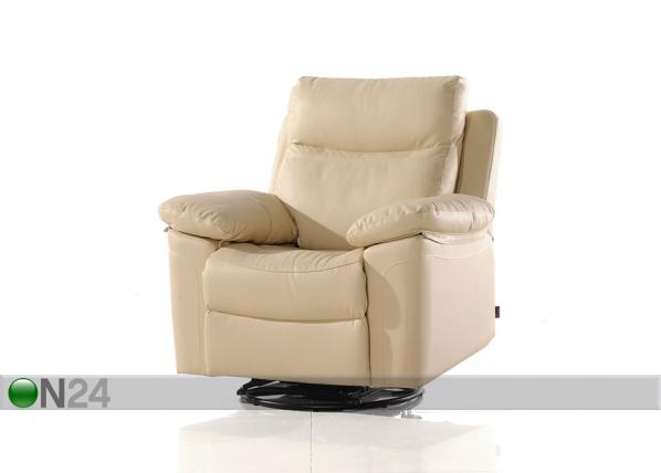 Nahkainen nojatuoli jalkatukimekanismilla URUGUAY AQ-97918
