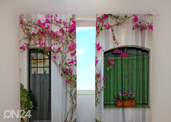 Läpinäkyvä verho FLOWERS ON THE WINDOW 240x220 cm ED-97959