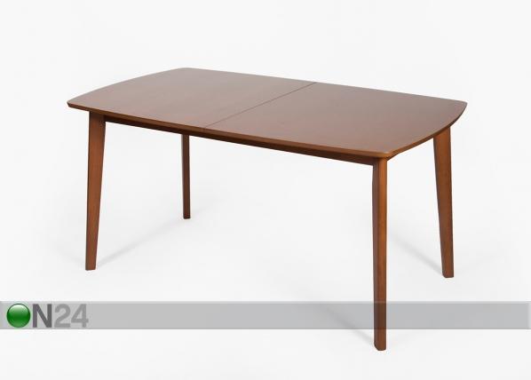 Jatkettava ruokapöytä BARI 90x150-194 cm, pähkinä GO-98664