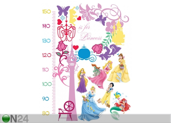 Seinätarra DISNEY PRINCESS MEASURE OF GROWTH ED-98739
