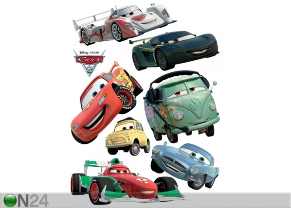 Seinätarra DISNEY CARS 2 MCQUEEN AND FRANCESCO BERNOULLI 65x85 cm ED-98749