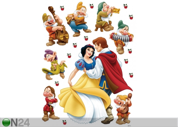 Seinätarra DISNEY SNOW WHITE AND PRINCE 65x85 cm ED-98820