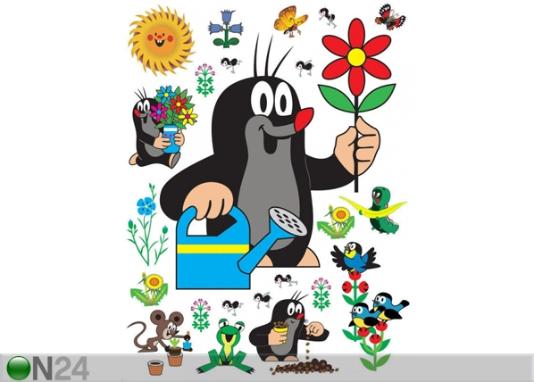 Seinätarra MOLE WITH FLOWER 65x85 cm ED-98884