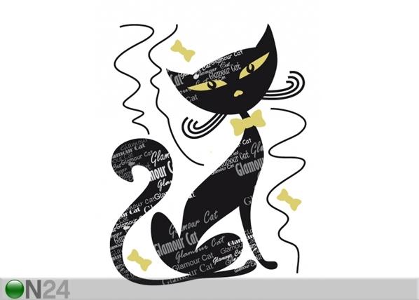 Seinätarra BLACK CAT 65x85 cm ED-98914