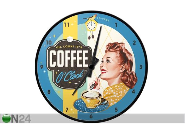 Retro seinäkello COFFEE O`CLOCK SG-99008
