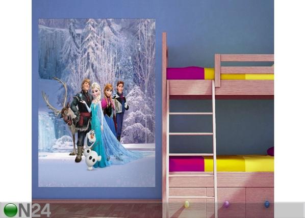 Fleece kuvatapetti DISNEY ICE KINGDOM 180x202 cm ED-99092