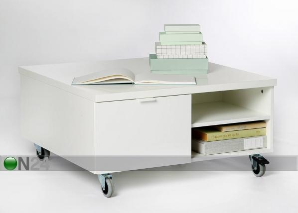 Sohvapöytä pyörillä 80x80 cm AY-99478