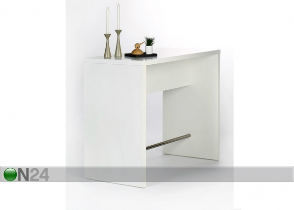 Baaripöytä 120x60 cm, valkoinen AY-99734