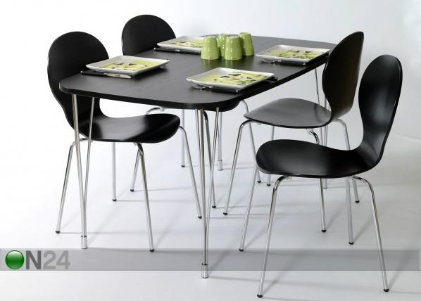 Sohvapöytä 138x80 cm, musta AY-99745