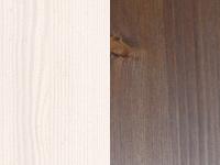valkoinen petsilakka / pähkinä petsi+lakka