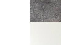 valkoinen/betooni/valkoinen lasi