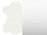 valkoinen keinonahka/valkoinen metalli