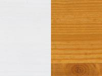 Monaco valkoinen (peittävämpi valkoinen)/vanha mänty (vaaleanruskea)
